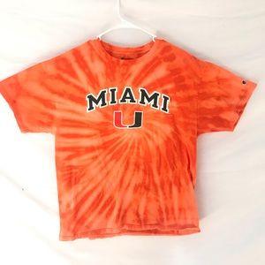 Custom dyed The U of Miami T-shirt